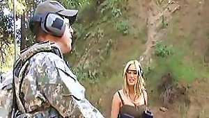 Hot Busty Blonde Shyla Stylez Gives A Soldier Some Good Loving