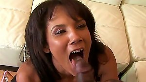 Gorgeous MILF Anjanette Astona Stands On Her Knees And Starts Caressing Enormous Huge Dong Of Nathan Threat Right On Eyes Of Her Cuckold Husband. Watc