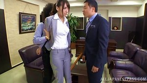 Secretary Bent Roughly Over The Desk And Fucked With Toys