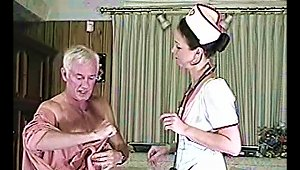 Filthy Nurse Is Treating That Old Fart With Her