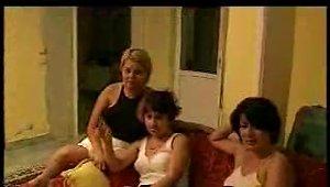 Three Hot Girls Help Him Feel So Good