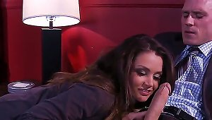 Allie Haze Never Misses A Chance Of Caress Big Dick. This Time Is Not The Exception And Now She Plays With Penis Of Johnny Sins. See How She Caresses