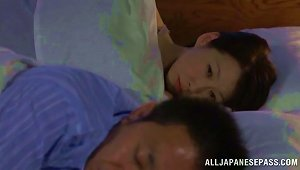 Horny Japanese Girl Wakes Up And Fucks Her Sleeping Hubby