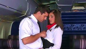 Stewardess And Pilot Fuck On Plane