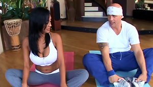 Stunning Priya Rai Fucks A Guy At The Yoga Session