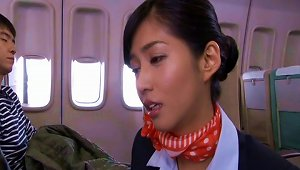 Amazing Japanese Stewardess Loves Getting Fucked By Passengers