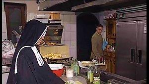 German Nun Fucked In Kitchen