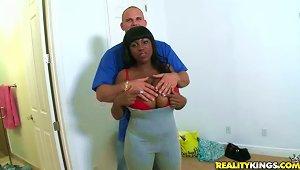 Big Breasted Ebony Loves  Cock