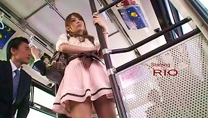 Gorgeous Elegant Asian Babe Touched Viciously In The  Bus
