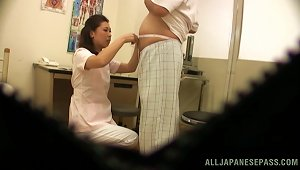 Japanese Doctor Gives A  To Her Patient In Hidden Cam Video