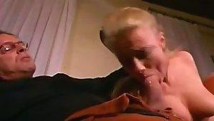 Blond MILF Deepthroat Then Rough Anal