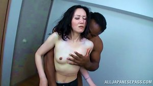 Mature Japanese Model Is Bonked Hard In Interracial