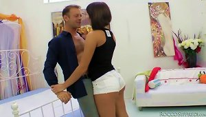 Sexy Brunette Lucie Has Perfect Sex With Rocco Siffredi