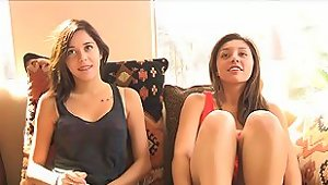 Fabulous Teen Masturbates In A Casting Next To Her Gf