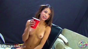Skinny Veronica Rodriguez Rides A  And Fucks A Guy